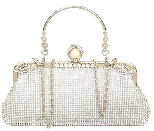 Silver Girly Vintage Vintage HandBags Clutch Girly Clutch Bag Girly Diamante HandBags Silver Bag Diamante fCgO1xB