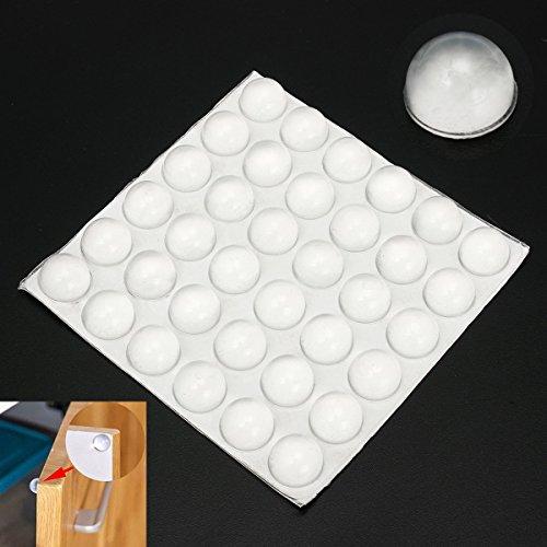 QOJA 36pcs clear rubber feet bumper silicone self-adhesive anti-slip by QOJA