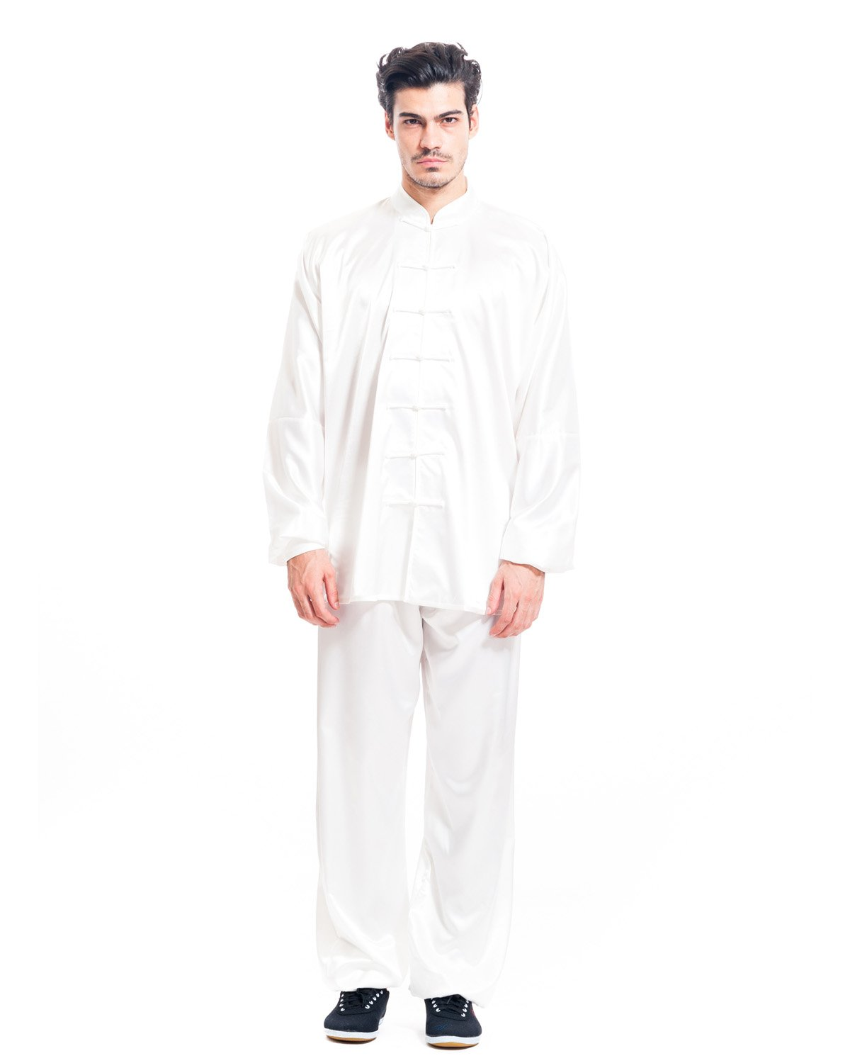 icnbuys Hombre Tai Chi Uniforme Advanced Rayón seda MTCUARSB00