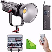 Aputure COB C300D 300D 300W 5500K Daylight Balanced LED Continuous Video Light CRI95+ TLCI96+ 31000lux@0.5M Bowens Mount Dual Power Supply 2.4G Remote Control 18dB Low Noise V-Mount Plate