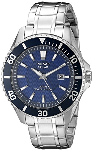 Pulsar Analog Wrist Watch (Pulsar Men's PX3067 Solar Dress Analog Display Japanese Quartz Silver Watch)