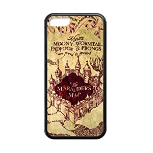 Awesome Magic Harry Potter Marauder's Map Rubber Case Cover for Iphone 5C