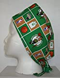Surgical Scrub Hat Basketball Teams Cotton Fabric Nurse Cap Doctor Chemo Skull
