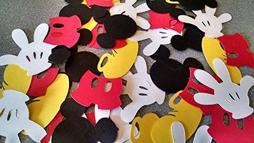 (Disney Mickey Mouse Die Cuts - Shoes, Hand, Heads & Pants Set -)