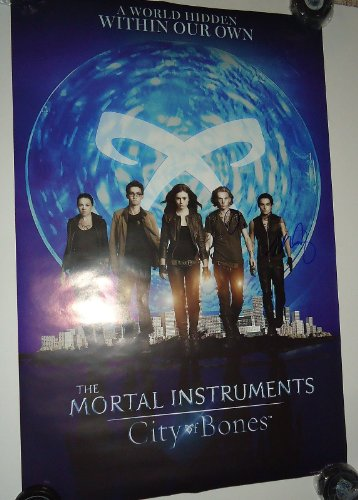 The Mortal Instruments: City of Bones CAST signed 24X36 movie poster W/COA