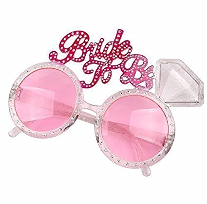 0f0853c399b UChic 5Pcs New Bachelorette Hen Party Supplies Bride To Be Glasses Pink  Bling Diamond Ring for