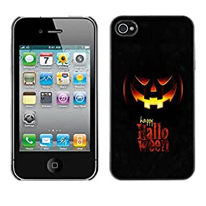 YiPhone /// Prima de resorte delgada de la cubierta del caso de Shell Armor - Happy Halloween - Apple iPhone 4 / 4S