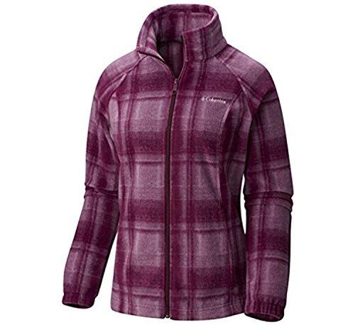 Columbia Jacket Game (Columbia Women's Benton Springs Print Full Zip, Purple Dahlia Plaid, Small)