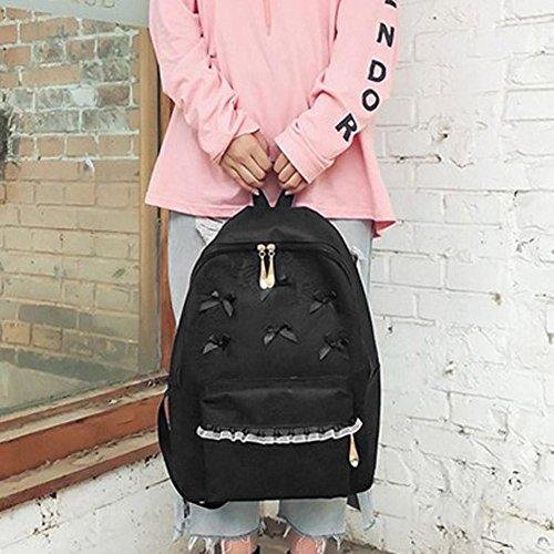 Domybest - Bolso mochila  para mujer Rosa rosa negro