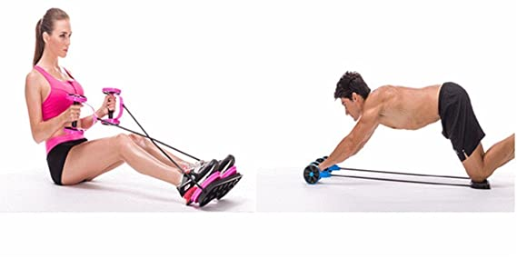 Cintura Twister, eonant gimnasio en casa Fitness ejercicio para mancuernas, barbell, tirar de la cuerda, cintura Twister, AB rodillo rojo: Amazon.es: ...