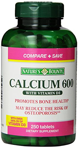 Cheap Nature's Bounty  High Potency Calcium 600 + D Tablets – 0250ct, 1.17 Bottles (Pack of 2)