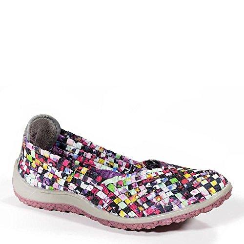 Zee Alexis Spice Womens Woven Slip On Shoes Mosaic Multi (8 B(M))