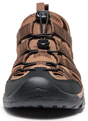 ATIKA AT-M107-BRN_Men 11 D(M) Men's Sports Sandals Trail Outdoor Water Shoes 3Layer Toecap M107 by ATIKA (Image #2)