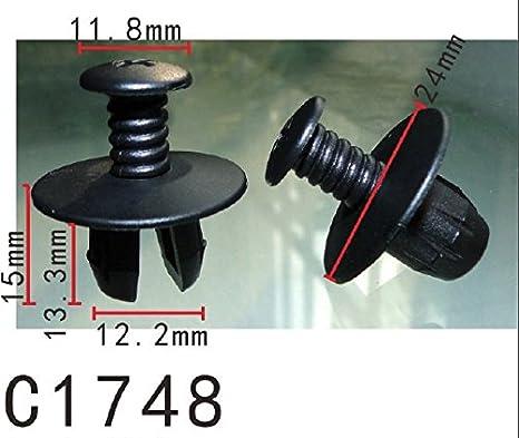 10x BMW interno del tetto Pilastro /& A-Pilastro Tagliare Pannello di Chiusura Clip push-in