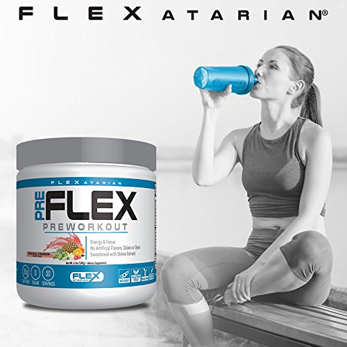 Flexatarian Pre-Flex, All-Natural Preworkout Formula, Tropical Thunder, 30 Servings by Flexatarian (Image #5)