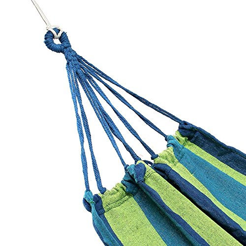 canvas hammock swing outdoor colorful stripe lying recline bed for camping hiking picnic  blue  canvas hammock swing outdoor colorful stripe lying recline bed for      rh   thecamping panion