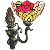Gweat 8-Inch Luxury Rose Tiffany Wall Lamp