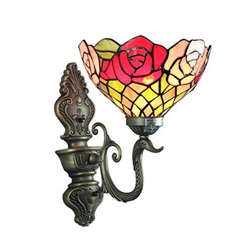 8-Inch Luxury Rose Tiffany Wall Lamp by Gweat Tiffany Lamp