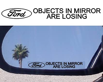 Amazon Com 2 Mirror Decals Objects In Mirror Are Losing For