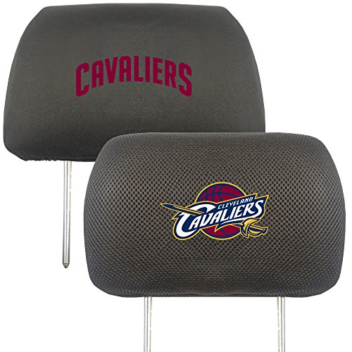 NBA Cleveland Cavaliers Head Rest Cover, 10'' x 13''/Small, Black by Fanmats