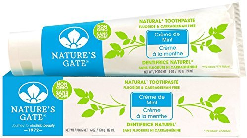 Natures Gate Toothpaste Creme - Nature's Gate Natural Toothpaste, Creme de Mint 6 oz