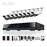 ELEC 8CH 700TVL 8 Channel 960H HDMI DVR 8 Outdoor Home CCTV Security Camera System 1T