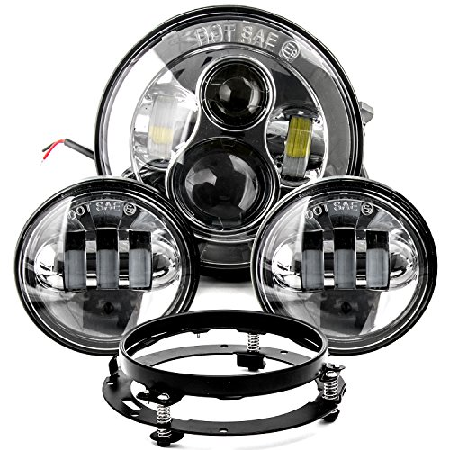 """7"""" LED Projector Daymaker Headlight 4.5"""" Passing Lights, used for sale  Delivered anywhere in Canada"""