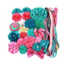 Small Headband Making Kit - Makes 12 to 16 Headbands - Jade Hot Pink