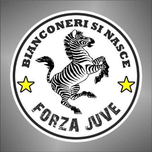 Autocollant Juve Juventus ultras serie A champions League sticker–Forza, 10 cm