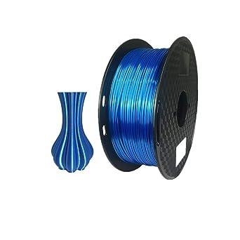 Filamento para impresora 3D, 1,75 mm, filamento PLA de seda (azul ...