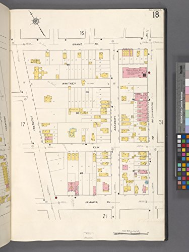 Map Poster - Queens V. 2, Plate No. 18 [Map bounded by Grand Ave., 1st Ave., Jamaica Ave., Crescent] 17