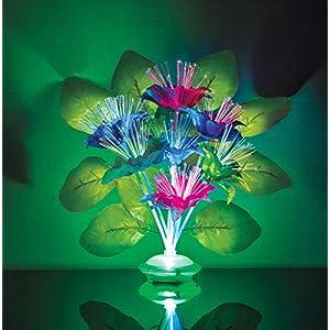 The Paragon Lighted Fiber Optic Flower Bouquet - Artificial Silk Floral Arrangement with Multi Colored Fiber-Optic Lights 14