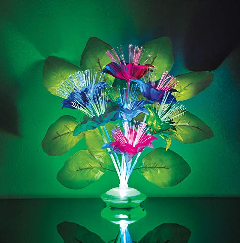 The Paragon Lighted Fiber Optic Flower Bouquet - Artificial Silk Floral Arrangement with Multi Colored Fiber-Optic Lights