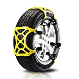 GZQ Tire Anti-Skid Chains Car Emergency Traction Safety Snow Tyres Chain Portable Winter Driving Security Tension Straps for Car, SUV and Light Truck (1)