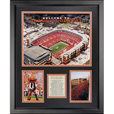 "Legends Never Die Oklahoma State University - T Boone Pickens Stadium Framed Photo Collage, 16"" x 20"" by Legends Never Die"