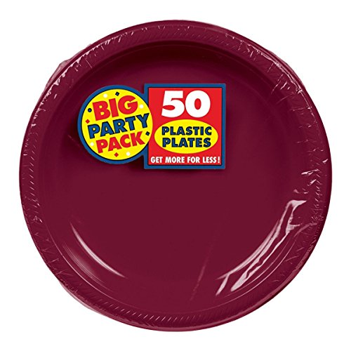 Berry Dessert - Big Party Pack Berry Red Plastic Plates | 7