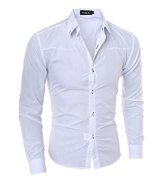 vente chaude authentique taille 7 dernier LANBAOSI Homme Chemise de Business Classique en Coton pour Mariage Dress  Shirt Men Slim
