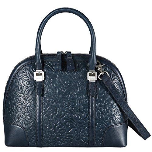 Banuce Real Leather Handbags for Women Embossed Pattern Business Tote Shoulder Messenger (Embossed Messenger Bag)