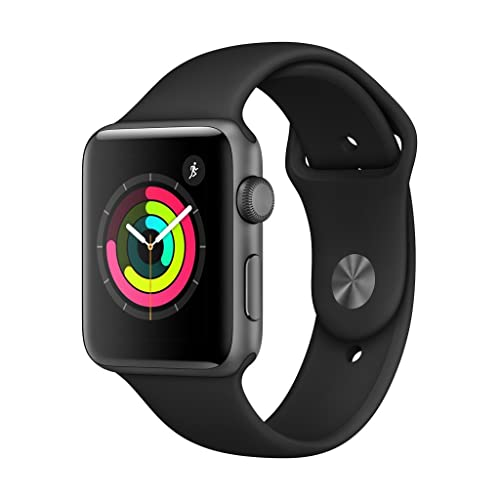 Apple Watch Series 3 GPS con caja de 42 mm de aluminio en gris espacial y correa deportiva Negra