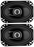 Planet Audio TRQ462 Torque 200 Watt (Per Pair), 4 x 6 Inch, Full Range, 2 Way Car Speakers (Sold in Pairs)
