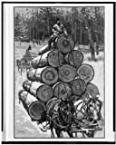 Photo: Logging,lumber industry,sleds,sleighs,northern Wisconsin,WI,T DeThulstrup,1885