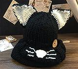 Da.Wa Cute Cat Ears Hat Winter Artificial Wool