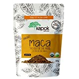 Kapok Naturals Organic Maca Powder 1/2 LB Resealable Pouch. Premium Vegan Maca Root. Use for Energy, Endurance, Vitamins & Reproductive Health. Peruvian Maca for Women and Maca for Men Health.