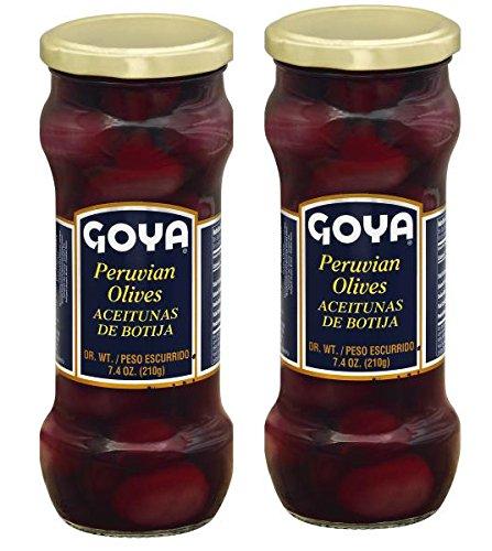 Goya Peruvian Olives, 7.4 oz,Aceitunas de Botija (2 jars)