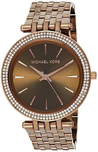 Michael Kors Women's Japanese-Quartz Watch with Stainless-Steel Strap, Brown, 20 (Model: MK3416) from Michael Kors