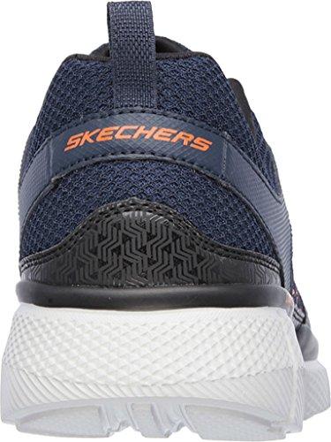 Égaliseur Skechers Pour Hommes 2.0 Sur Piste, Marine / Orange, Us 6.5 M