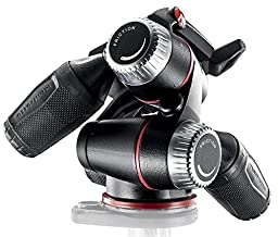 Manfrotto MHXPRO-3W X-PRO 3-Way Head with Retractable Levers and Friction Controls and Two ZAYKIR Quick Release Plates