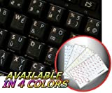 FRENCH BEPO KEYBOARD STICKER WHITE LETTERING TRANSPARENT BACKGROUND FOR DESKTOP, LAPTOP AND NOTEBOOK