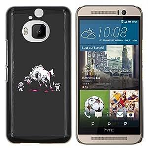 YiPhone /// Prima de resorte delgada de la cubierta del caso de Shell Armor - Monstruos de la historieta Arte Sangre - HTC One M9Plus M9+ M9 Plus