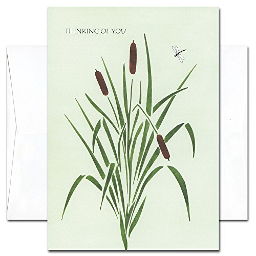 Dragonfly - Thinking of You Cards, box of 10 cards & envelopes